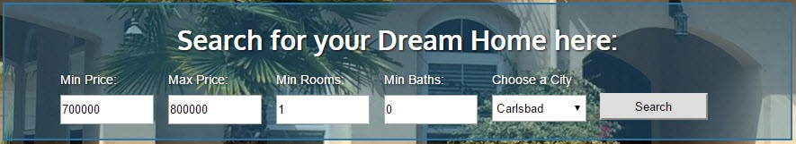 Carlsbad Home Search Box