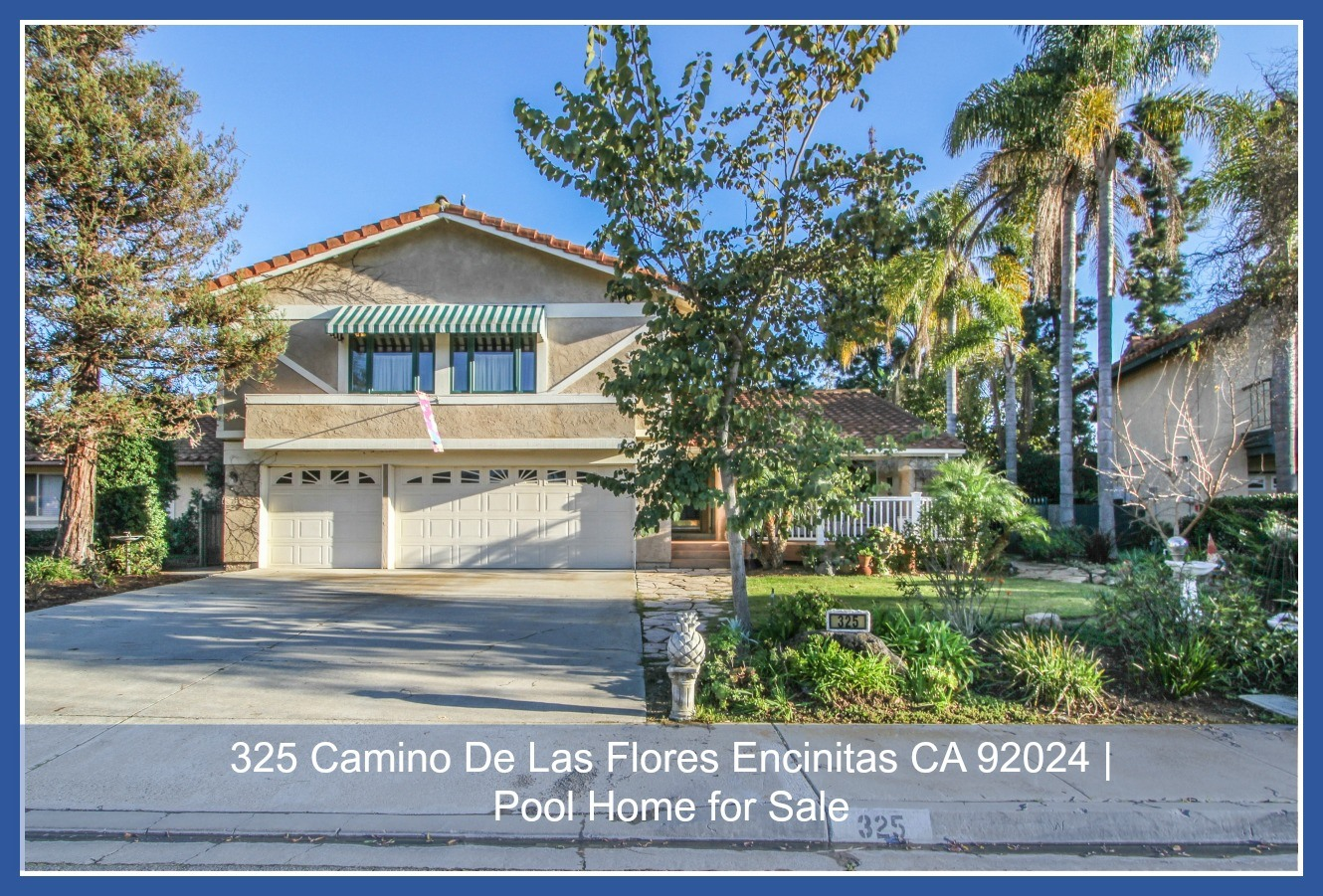 Homes in Encinitas - This home for sale in Encinitas is conveniently located close to everything - the beach, the golf course, the restaurants and shops and more.