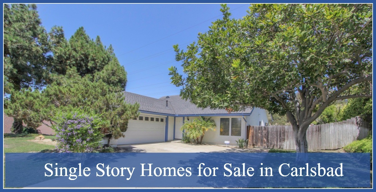 Single Story Homes for Sale in Carlsbad - Choose your dream home from our lineup of single story homes for sale in Carlsbad!