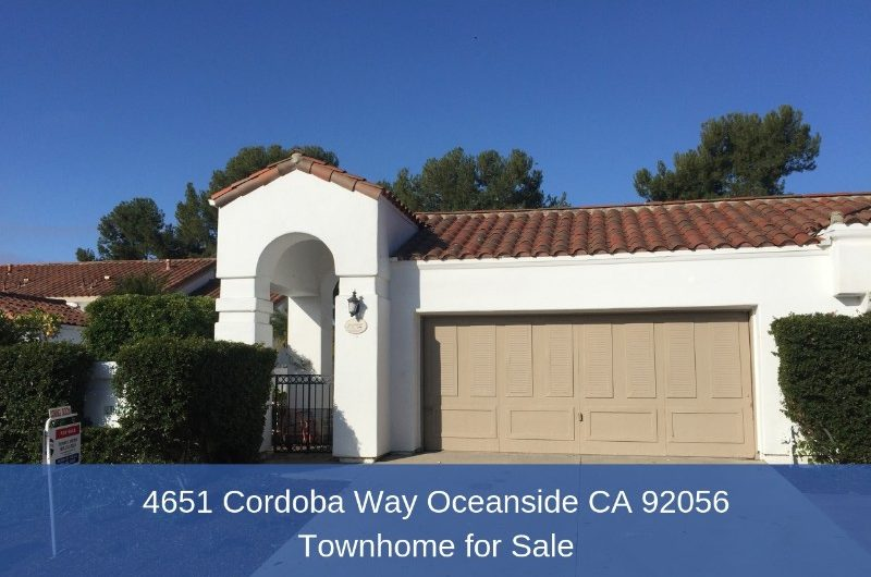 Coming Soon 4651 Cordoba Way Oceanside Ca 92056 Townhome For Sale